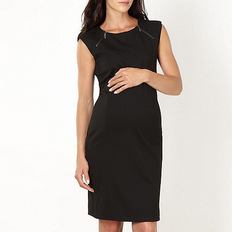 Red Herring Maternity - Black zip maternity dress