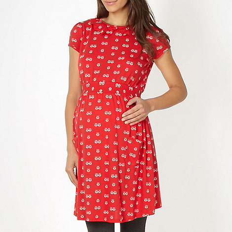 Red Herring Maternity - Red owl printed maternity dress