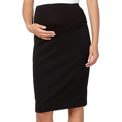 Red Herring Maternity - Black textured maternity pencil skirt