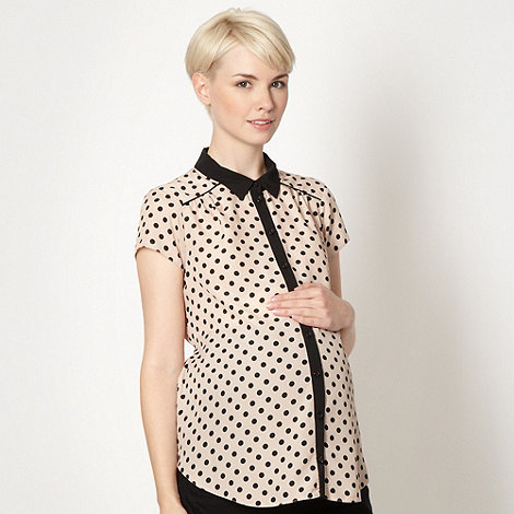 Red Herring Maternity - Light pink spotted maternity shirt