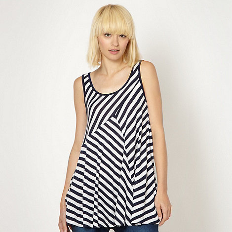 Red Herring - Navy striped swing vest