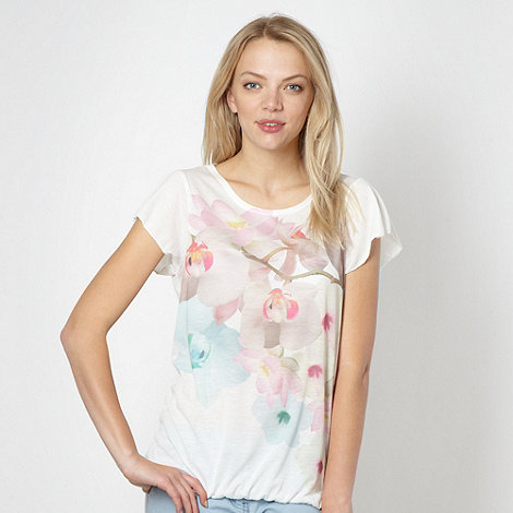 Red Herring - Ivory pastel coloured floral top