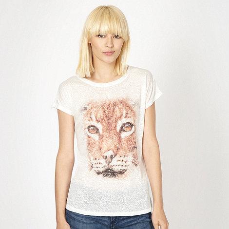 Red Herring - White lynx printed t-shirt
