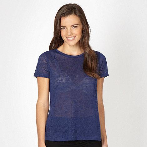 Red Herring - Blue embossed t-shirt