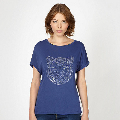 Red Herring - Navy studded tiger t-shirt