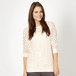 Red Herring - Light pink brushed lace top