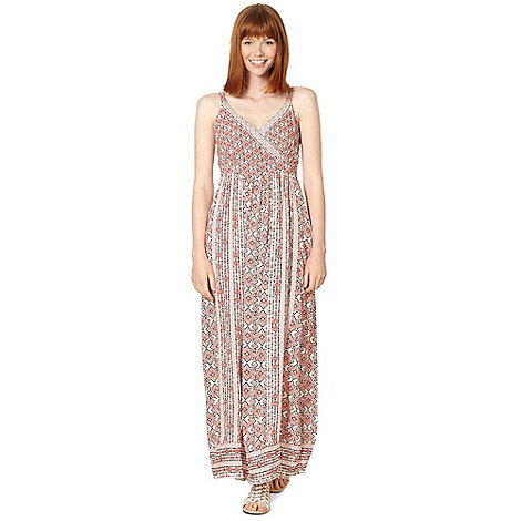 Red Herring - Red tile print woven maxi dress