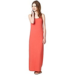 Red Herring - Coral jersey maxi dress
