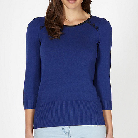 Red Herring - Blue button detail jumper