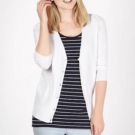 Red Herring - White V neck cardigan