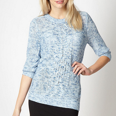 Red Herring - Light blue cable knitted jumper