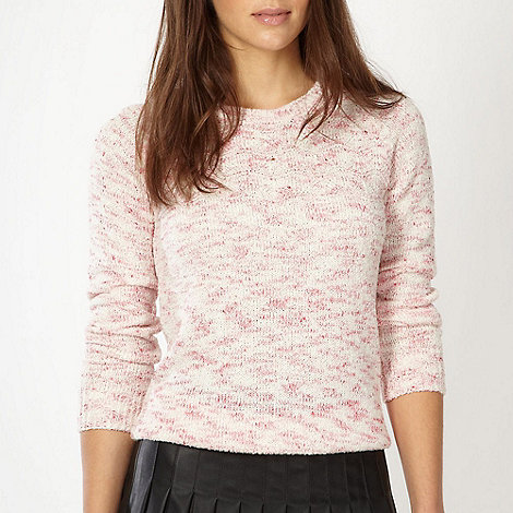 Red Herring - Pink space dye knitted jumper