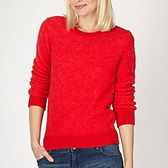 Red Herring - Red boucle knit jumper