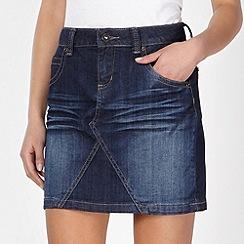 Red Herring - Blue denim creased mini skirt