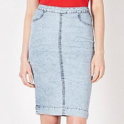 Red Herring - Blue acid watch pencil skirt
