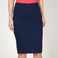 Red Herring - Dark blue denim pencil skirt