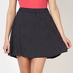 Red Herring - Navy spotted jersey skirt