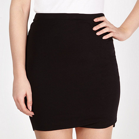 Red Herring - Black mini tube skirt