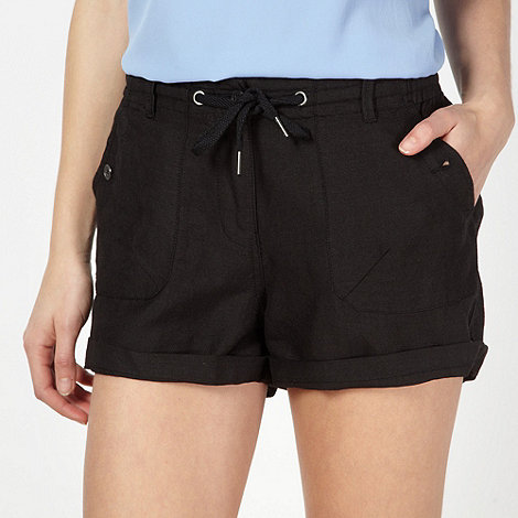 Red Herring - Black woven drawstring shorts
