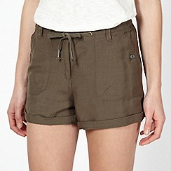 Red Herring - Khaki woven drawstring shorts