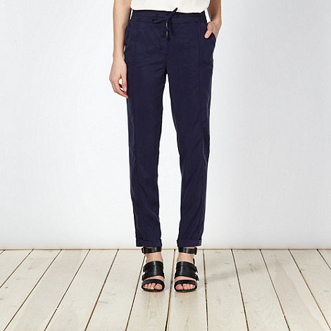 Red Herring - Navy relaxed tapered trousers