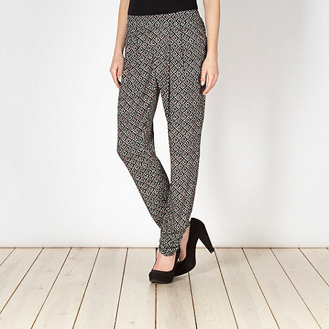 Red Herring - Black diamond tiled trousers