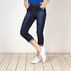 Red Herring - Dark blue 'Holly' super skinny cropped jeans