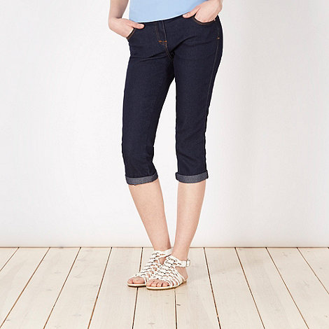 Red Herring - Dark blue cropped skinny jeans