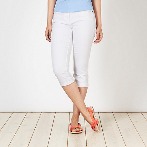 Red Herring - White +Lulu+ skinny cropped jeans