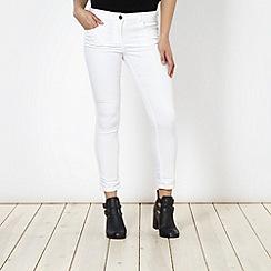 Red Herring - White 'Holly' super skinny coloured jeans