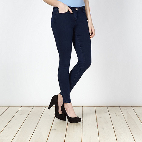 Red Herring - Dark blue super skinny jersey jeans