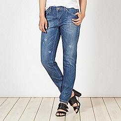 Red Herring - Dark blue slim worn effect jeans