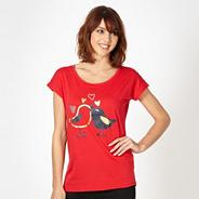 Red 'Love Birds' t-shirt