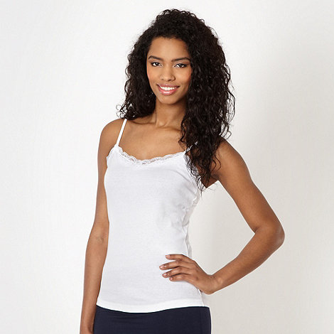 Red Herring - White lace trim camisole
