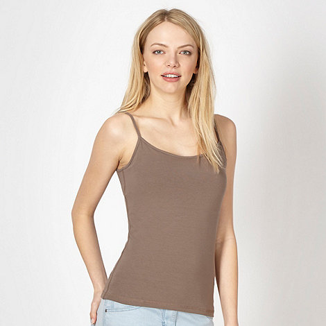 Red Herring - Chocolate plain jersey camisole