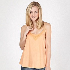 Red Herring - Light peach crochet swing camisole