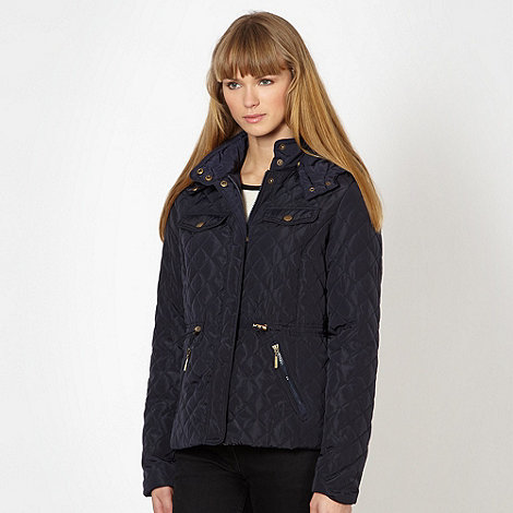 Red Herring - Navy quilted four pocket jacket