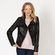 Black PU collar jacket