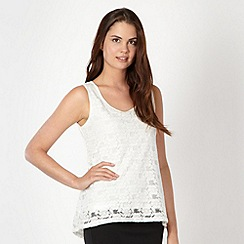 Red Herring - Cream brushed lace vest