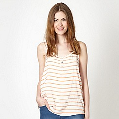 Red Herring - Peach striped woven front vest