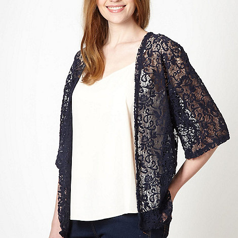 Red Herring - Navy brushed lace cardigan