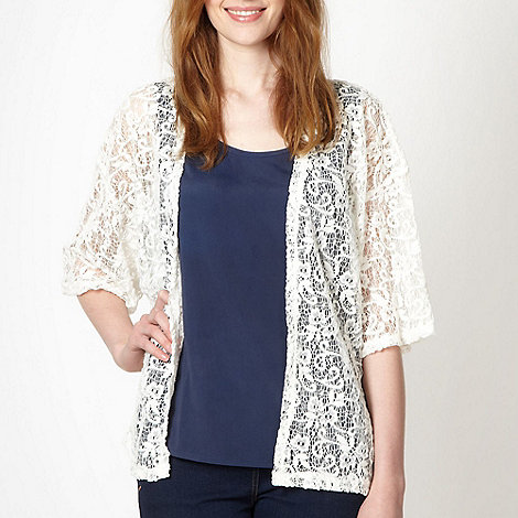 Red Herring - Ivory brushed lace cardigan