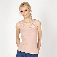 Red Herring - Pale pink studded scoop neck vest