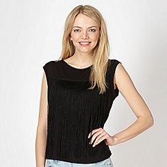 Red Herring - Black tassel front t-shirt