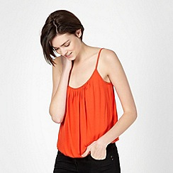 Red Herring - Orange bubble hem camisole
