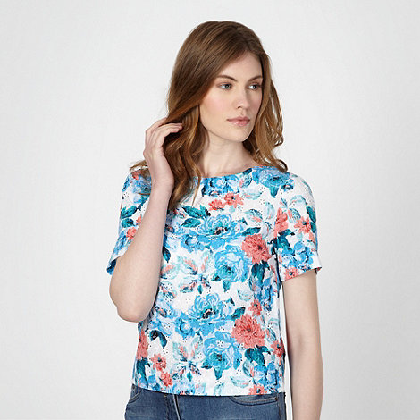 Red Herring - Blue floral broderie top