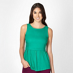 Red Herring - Green woven shell top