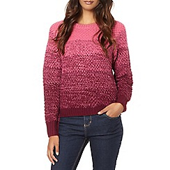 Red Herring - Plum ombre interwoven stitched jumper