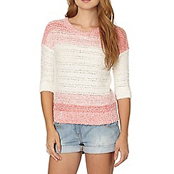 Red Herring - Coral ombre block jumper