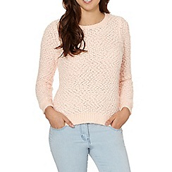 Red Herring - Pale pink eyelash pom pom jumper